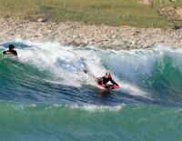 Windsurfing in Skaill Bay