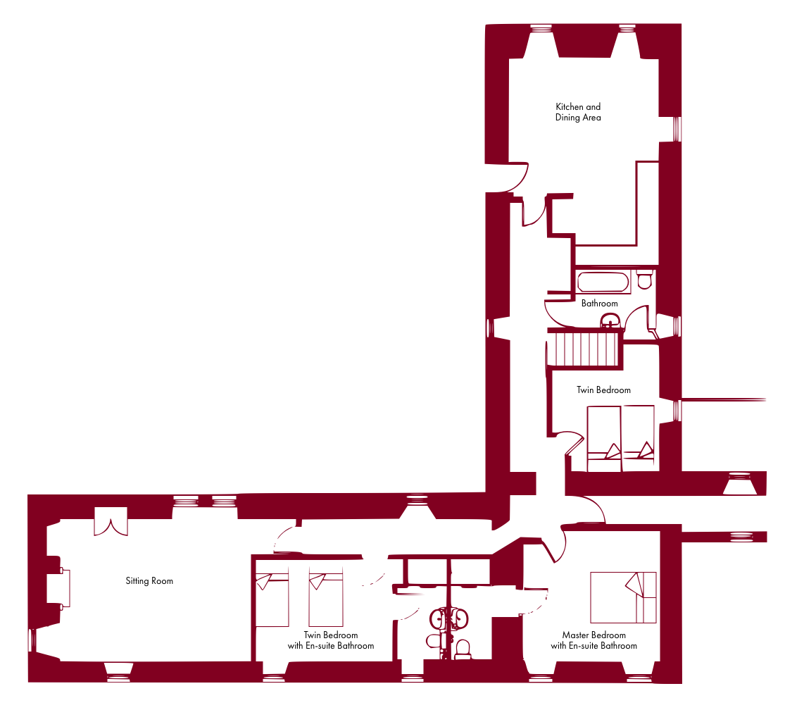 Langskaill self catering apartment floor plan
